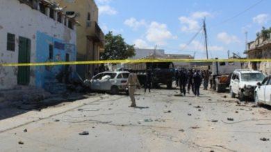 Photo of Roadside Bomb Hits Somali Police Vehicle In Mogadishu