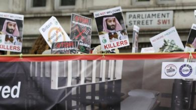 Photo of Royal welcome and noisy protests await Saudi crown prince on UK trip