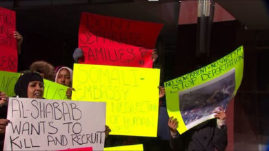 Photo of Families of Somali detainees awaiting deportation hold protest