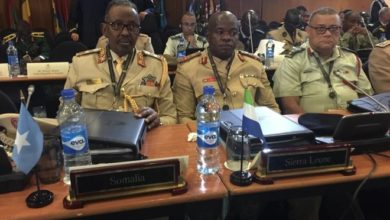 Somali Military Chief meets with African and U.S. Military Commanders