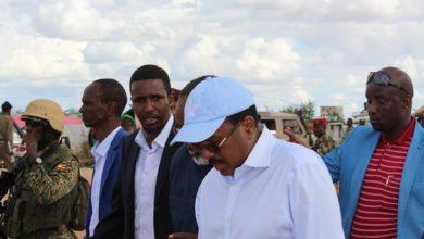 President Farmajo visits flood-hit Beledweyne