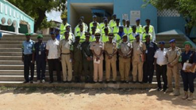 Twenty-five Somali police officers undergo training on traffic management