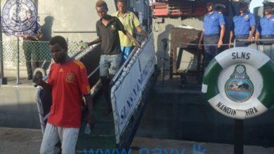 Sri Lanka Navy rescues three Somali fishermen stranded in deep sea