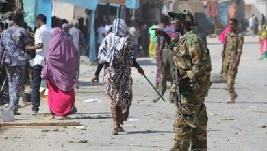 Photo of AU convoy hits landmine in Mogadishu