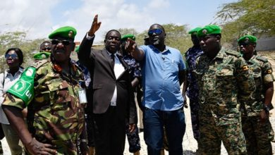 Photo of AMISOM leadership assesses troops's welfare
