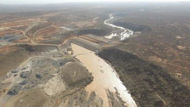 Photo of Turkey halfway through dam construction in Djibouti