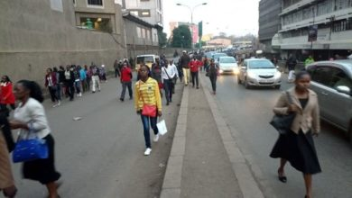 Photo of Nairobi commuters trek to work as PSV ban takes effect