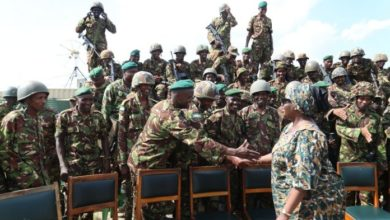 Photo of Kenyan Defence Minister Surprise Christmas Visit To KDF Soldiers In Somalia