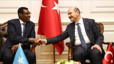 Photo of Turkish interior minister meets Somali counterpart