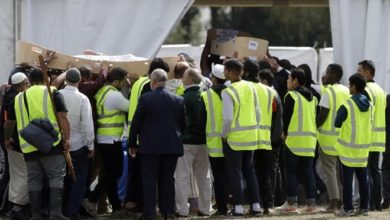 Photo of Burials begin for New Zealand mosque shooting victims, PM visits school