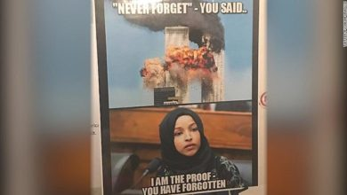 Photo of Rep. Ilhan Omar blasts GOP over poster linking her with the 9/11 attacks
