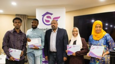 Photo of Six university students awarded scholarships by the Canadian Somali Scholarship Fund at the third annual awards ceremony