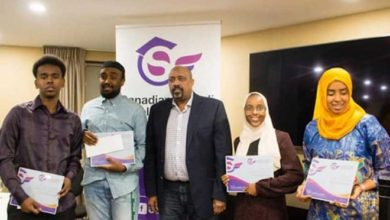 Photo of Scholarship winners honoured by the Canadian Somali Scholarship Fund