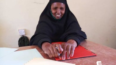 Photo of Blind since childhood, 53 year old Somali woman goes to school after decades of struggle