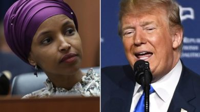 Photo of Ilhan Omar asks God to forgive Trump for mocking her hours after man arrested over death threat
