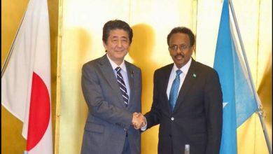 Photo of Japan's Prime Minister Shinzo Abe and Somalia's President Mohamed Abdullahi Mohamed agree on maritime security