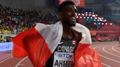 Photo of Canada's Moh Ahmed wins bronze medal in men's 5,000 metres at track worlds