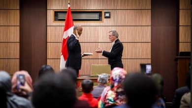 Photo of Somali-Canadian Ahmed Hussein sworn in as York South-Weston MP