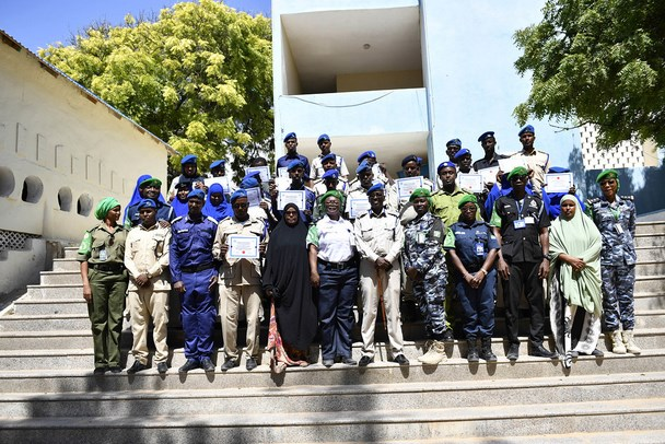 Photo of AMISOM trains Somali Police officers in management skills