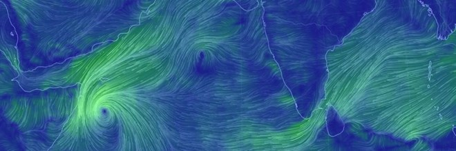 Photo of 8th cyclone formed in the North Indian Ocean region