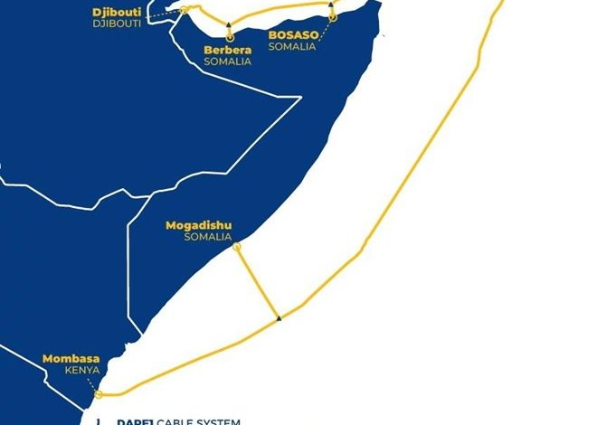 Photo of Somaliland and Djibouti in DARE1 Submarine Cable System Standoff