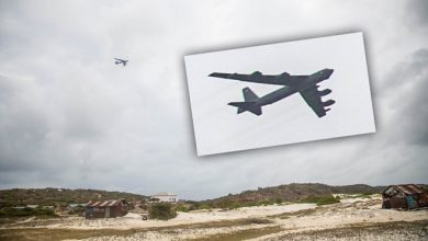 Photo of B-52 Bomber Spotted Flying Low Just Off Somali Coast
