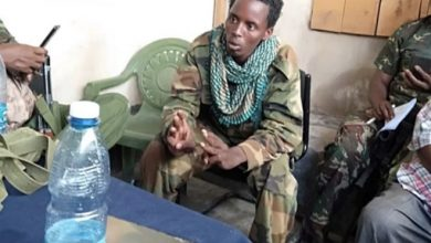 Photo of Al-Shabaab militant surrenders in Mandera