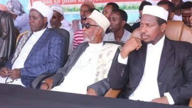 Photo of Ahlu Sunna spiritual and political leaders surrender to federal forces after heavy fighting in Galmudug