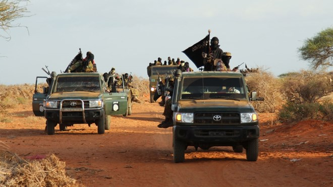 Photo of AMISOM troops destroy al-Shabab vehicles in foiled attack