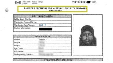 Photo of Edmonton woman with alleged terrorist ties refused Canadian passport
